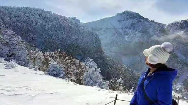 最冷的天爬了韩国最高的山!