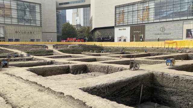 """南京""""最贵商圈""""旁的2000平米考古区:遗迹以水井为主"""