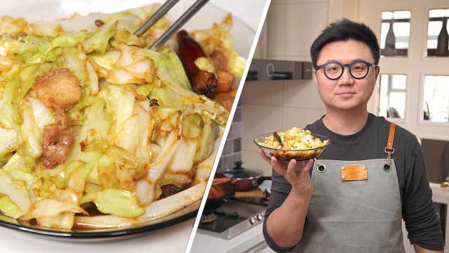 做出餐厅味道的手撕包菜!