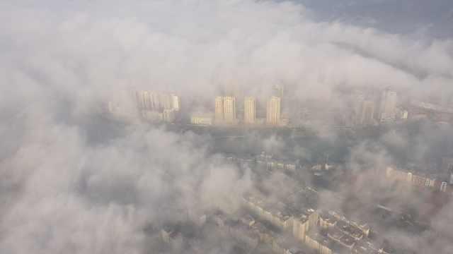 上帝视角看大雾笼罩下的贵州,帧帧画面宛如梦幻仙境