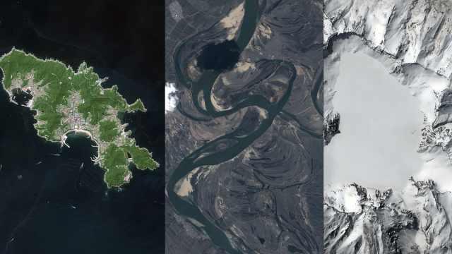 吉林一号卫星视角下的东北小城,静谧又壮美