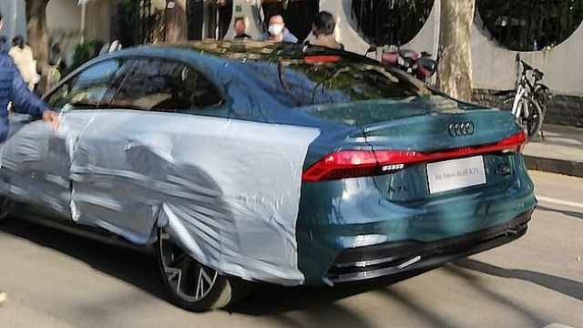 奥迪A7L实车曝光,取消经典溜背设计