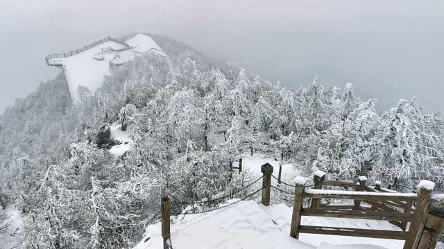 秦岭第一峰太白山清明迎春雪,云雾缭绕飘渺欲仙