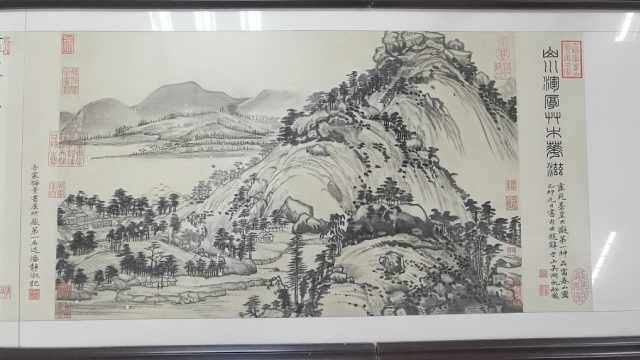 瓷器上的铁笔丹青!东北父女在10余米石板上刻出富春山居图