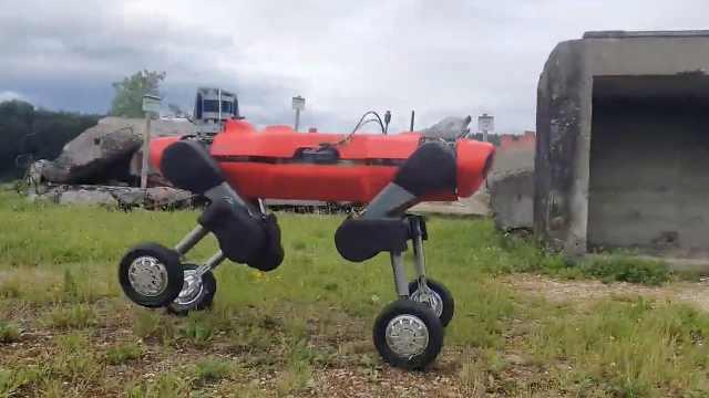 加了轮子的四足机器人,看看它们动作有多溜