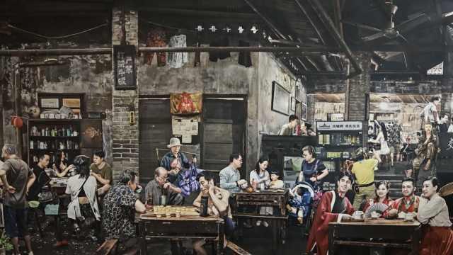重庆大叔创作茶馆版《清明上河图》:给中国生活方式留个影