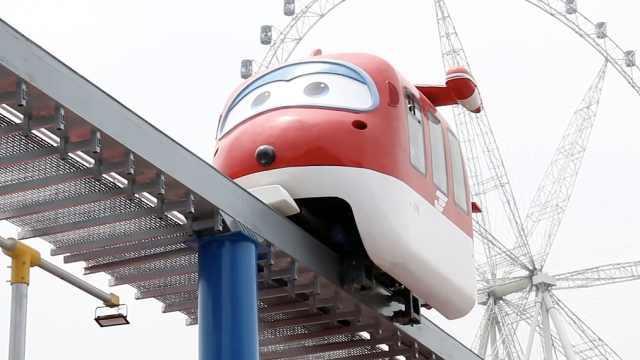 已上新安排!全球首款超级飞侠列车现身重庆欢乐谷,实拍解锁