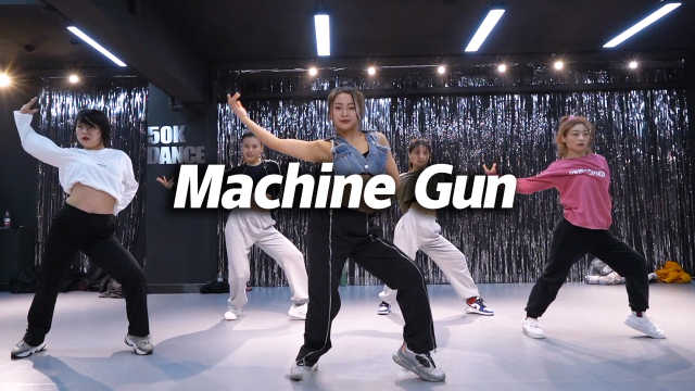 音音编舞《Machine Gun》,自信飒爽