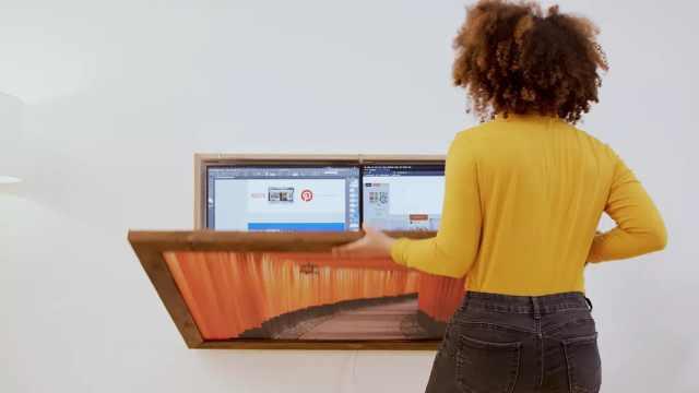 这款智能办公桌不仅可挂墙上,而且内有乾坤