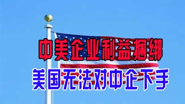 中美企业利益捆绑,美国无法对中企下手