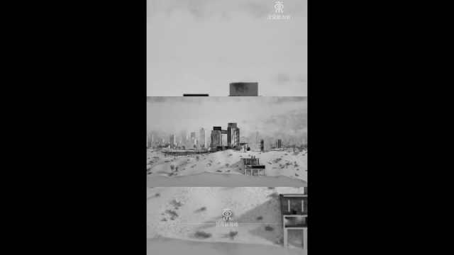 黑白城市 #视觉创意