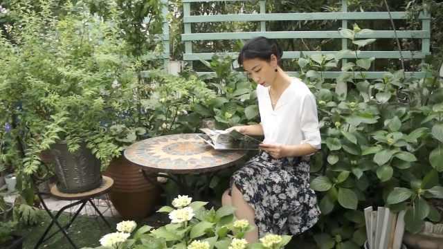 美女花3年把出租屋改造成花园:生活是自己的