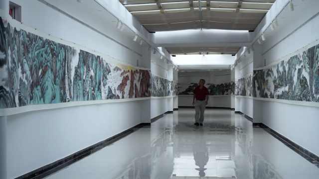 6旬老人用6年绘制144米井冈山长卷:所有