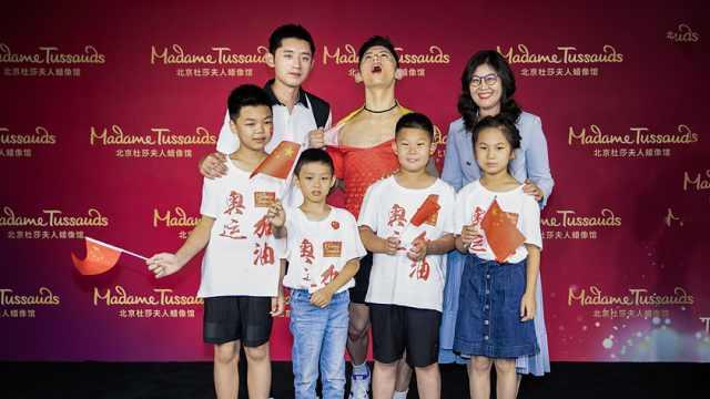 张继科花式炫球技,助力奥运为中国加油