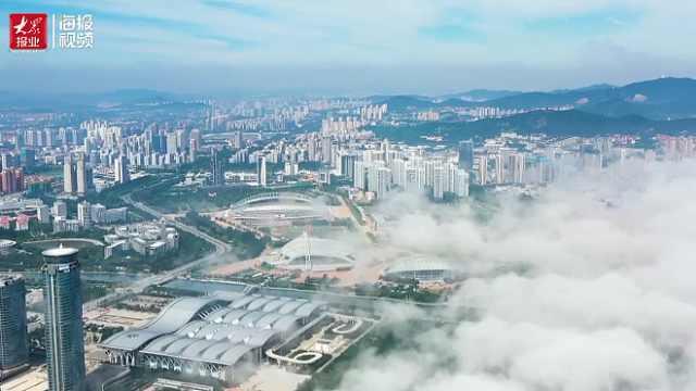 云雾笼罩,宛若仙境——烟台平流雾景观大赏