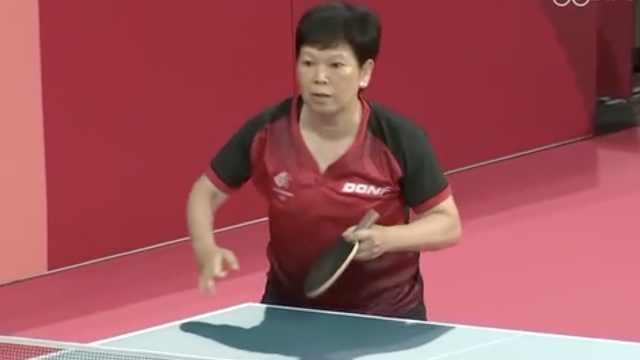 上海阿姨五战奥运,成乒乓球年纪最大参赛者
