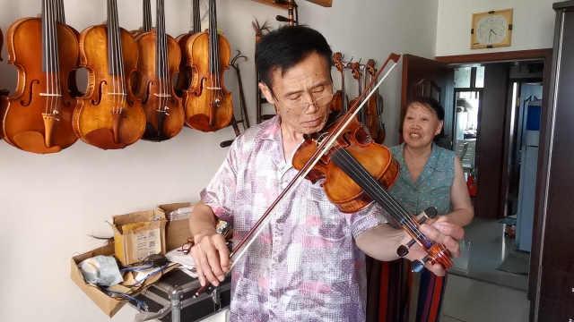 退休司机10余年制作小提琴和京胡,技艺媲美意大利名琴获赞