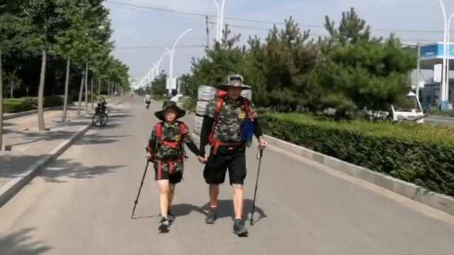 父亲带10岁儿子西安徒步去北京:边走边搭车,12天徒步800里