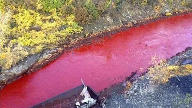 """这条河一下雨就""""流血"""",专家现场考察,揭开红色河水之谜"""