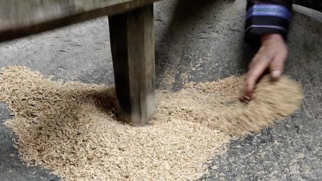 贵州这个村落坚持传统石碓舂米,村民:承载儿时记忆望被保留