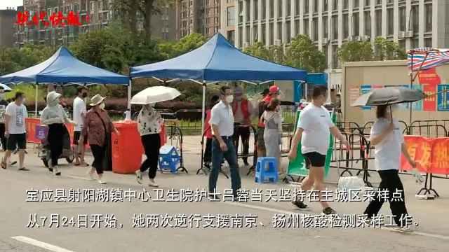 扬州第三轮核酸检测采样现场,这些身影让人泪目