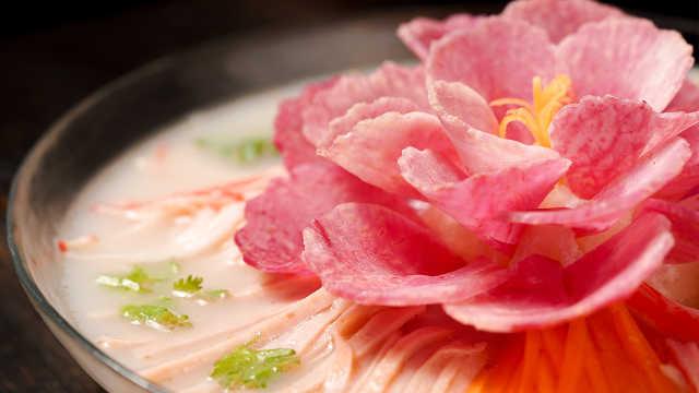 """世上竟有如此美的菜?挑战盛唐千年""""牡丹燕菜"""""""