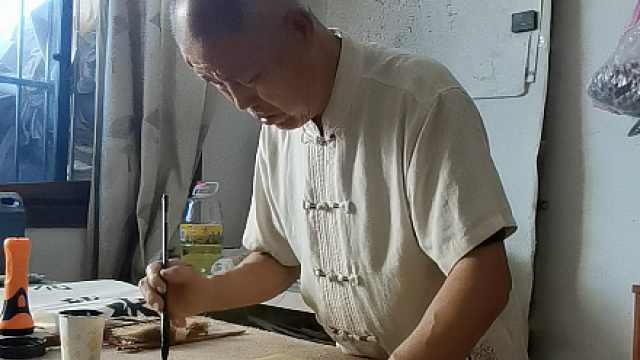 7旬乡村老人写书法作诗30年累计3千首:鞭策自己不要浪费时间