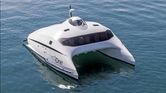 低能耗空气动力船,超能游艇Lili飞越水面!