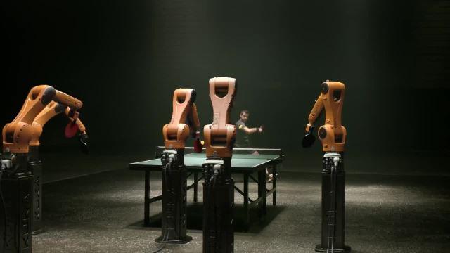 冠军VS人工智能,乒乓球场谁与争锋