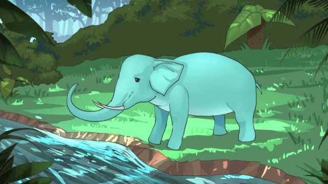 为什么大象的鼻子那么长?