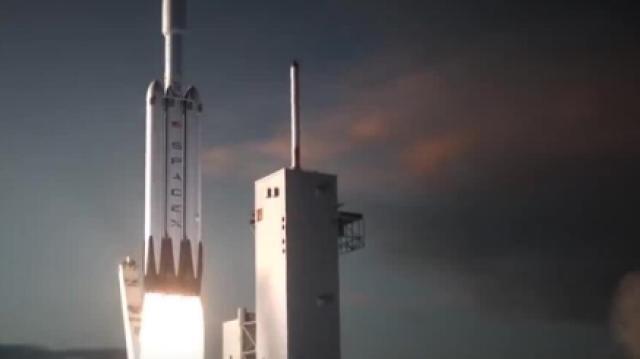 Space X测试猎鹰引擎,飞往火星