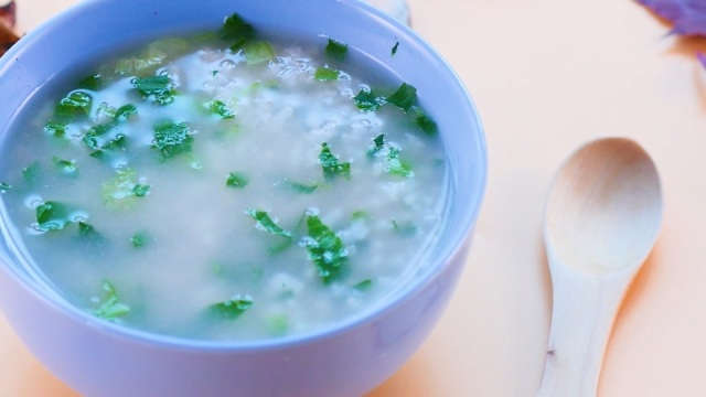 猪肝青菜粥,好吃又补铁!