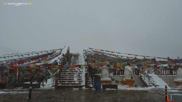 自驾川藏线偶遇下雪,一路感受四季