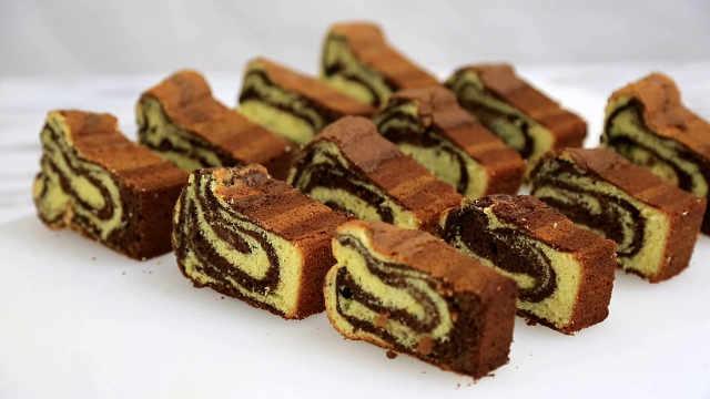 大理石纹磅蛋糕,属虎的巧克力蛋糕