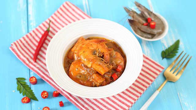 椰汁的巧妙利用,自制泰式咖喱虾
