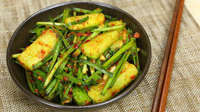 黄瓜拌韭菜腌7天就是正宗的泡菜