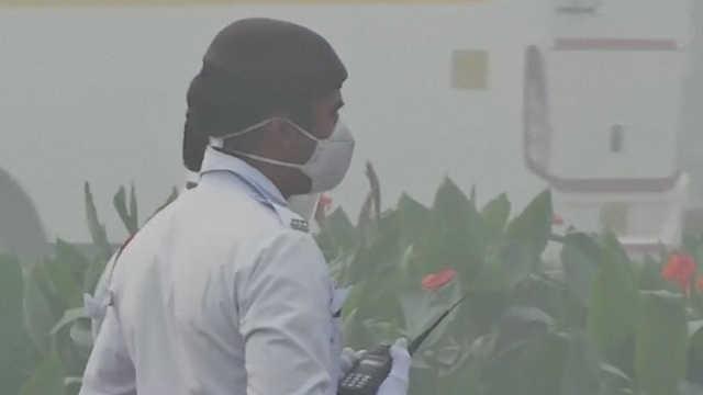 印度首都新德里PM2.5超标超过11倍