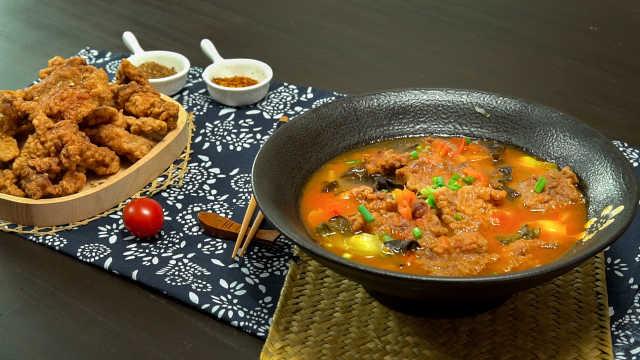 最适合冬天吃的家常菜,酸汤酥肉!