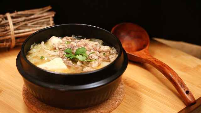 冬日温暖美味的快手羊肉卷汤锅!