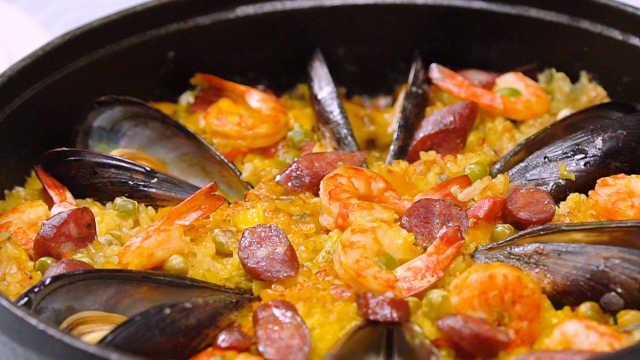 西班牙海鲜饭,鲜掉眉毛!