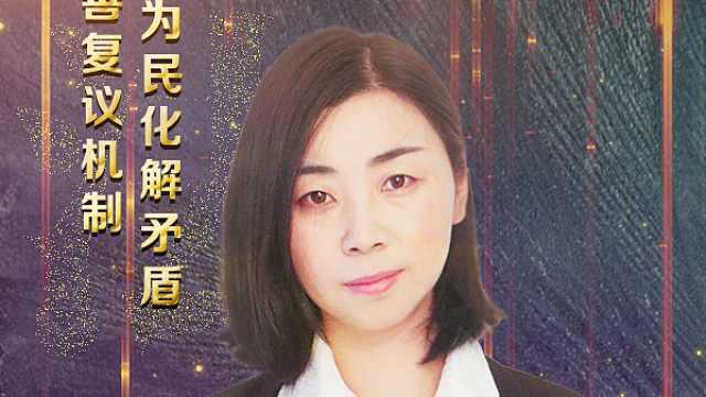 陈艳利:完善复议机制为民化解矛盾