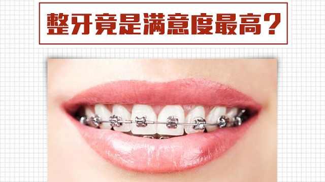 据说满意度最高的项目是整牙?
