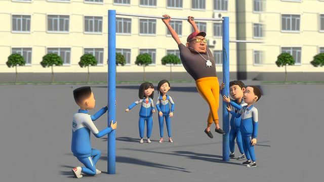厉害了我的体育老师,花式玩单杠!