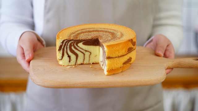 红遍ins的斑马蛋糕,2分钟学会