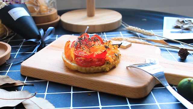 小食材也有高颜值,芥末番茄派!