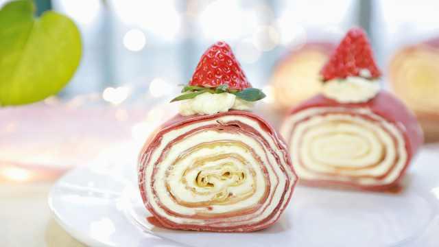 网红千层蛋糕卷,甜而不腻~