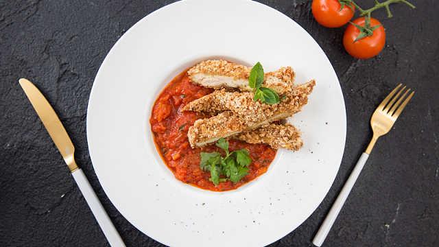 自己在家也能做的番茄香煎鸡排!