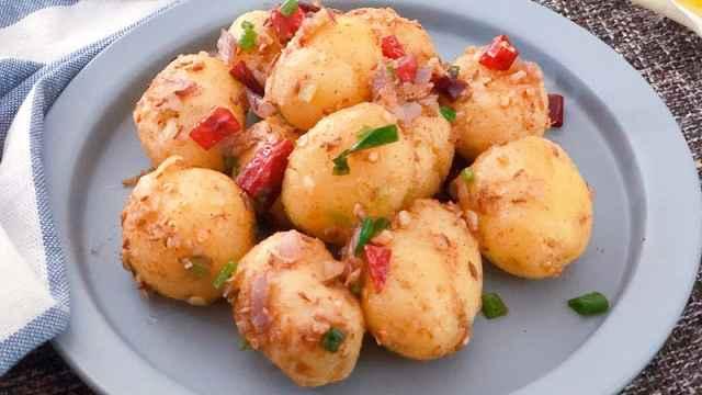 麻辣鲜香中带着回甜的干锅小土豆