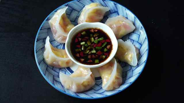 西红柿鸡蛋馅的水晶饺,你吃过吗?