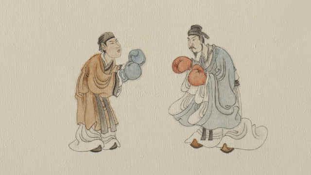 他用油画材料代替水墨宣纸画中国画